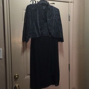 Sparkling Black Cocktail dress and matching jacket